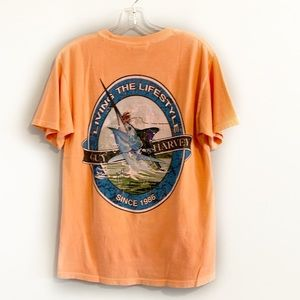 4/$20 GUY HARVEY Orange Graphic Tee